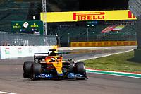 17th April 2021; Autodromo Enzo and Dino Ferrari, Imola, Italy; F1 Grand Prix of Emilia Romagna, Qualifying sessions;   Daniel Ricciardo AUS, McLaren F1 Team
