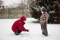 Snow with Grandma Connie