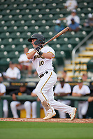 Bradenton Marauders Jackson Glenn (10) bats during Game One of the Low-A Southeast Championship Series against the Tampa Tarpons on September 21, 2021 at LECOM Park in Bradenton, Florida.  (Mike Janes/Four Seam Images)