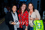Enjoying the evening in Killarney on Saturday, l to r: Mary White (Kenmare), Simone Corbin and Vivian Carloen.
