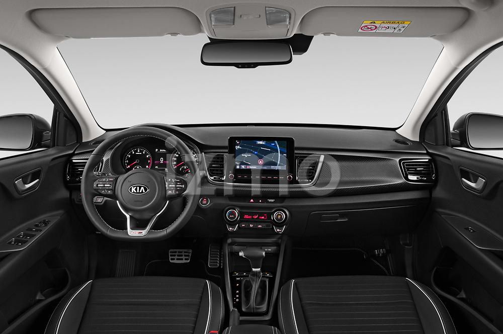 Stock photo of straight dashboard view of 2021 KIA Rio GT-Line 5 Door Hatchback Dashboard