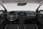 Stock photo of straight dashboard view of 2021 KIA Rio GT-Line 5 Door Hatchback Dashboard