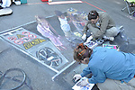 Cheryl & Wayne Renshaw:  Street painting with chalk