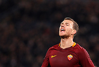 Calcio, Serie A: Roma vs Fiorentina. Roma, stadio Olimpico, 7 febbraio 2017.<br /> Roma's Edin Dzeko celebrates after scoring during the Italian Serie A soccer match between Roma and Fiorentina at Rome's Olympic stadium, 7 February 2017.<br /> UPDATE IMAGES PRESS/Riccardo De Luca