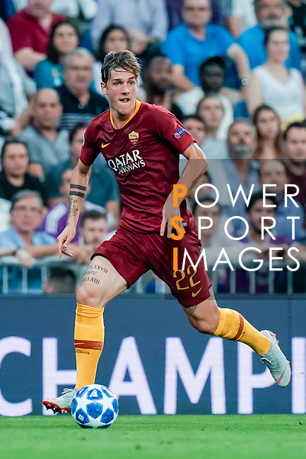 Nicolo Zaniolo of Roma in action during the UEFA Champions League 2018-19 match between Real Madrid and Roma at Estadio Santiago Bernabeu on September 19 2018 in Madrid, Spain. Photo by Diego Souto / Power Sport Images