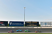 #11: Denny Hamlin, Joe Gibbs Racing, Toyota Camry FedEx Freight, #10: Aric Almirola, Stewart-Haas Racing, Ford Fusion Smithfield, #42: Kyle Larson, Chip Ganassi Racing, Chevrolet Camaro Clover and #78: Martin Truex Jr., Furniture Row Racing, Toyota Camry 5-hour ENERGY/Bass Pro Shops