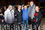 Carron O'Brien from Curravough, Tralee celebrating her 40th birthday and enjoying the atmosphere on Saturday at the Lighting of the Christmas tree in the Square.<br /> Front l to r: Sean, Carron, Stephen, Jack Kent and Leanne O'Brien.