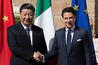 23.03.2019 - President of China Xi Jinping Meets Italian Prime Minister Giuseppe Conte