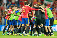 Spain's team celebrates the victory in the FIFA World Cup 2018 Qualifying Round match. September 2,2017.(ALTERPHOTOS/Acero)