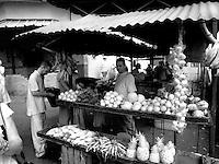 Infra red of fruit market in Havana Habana Cuba