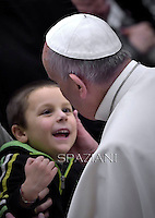 Pope Francis during his weekly general audience at the Paul VI hall at the Vatican, Wednesday. January 21, 2015