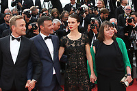 JEREMIE RENIER, DIRECTOR FRANCOIS OZON, MARINE VACTH AND MYRIAM BOYER - RED CARPET OF THE FILM 'L'AMANT DOUBLE' AT THE 70TH FESTIVAL OF CANNES 2017