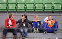 SCHAATSEN: HAMAR: Vikingskipet, 15-02-2013, Essent ISU WK allround, Season 2012-2013, Training, Rintje Ritsma, Martin Hersman, Erben Wennemars, Geert Kuiper, ©foto Martin de Jong
