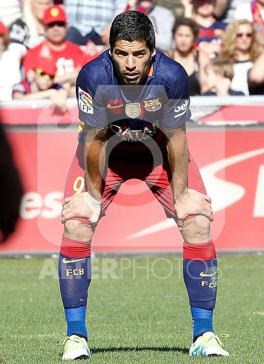 FC Barcelona's Luis Suarez during La Liga match. May 14,2016. (ALTERPHOTOS/Acero)