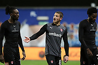 Ben Wiles of Rotherham United and Freddie Ladapo of Rotherham United talk to each other after the match during Queens Park Rangers vs Rotherham United, Sky Bet EFL Championship Football at The Kiyan Prince Foundation Stadium on 24th November 2020