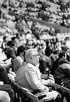 Montreal Expos<br /> baseball team fans wath the game at the Olympic stadium, April 6, 1983