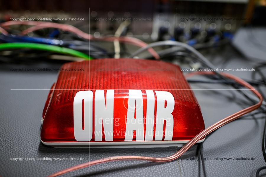 UGANDA, Arua, radio station Radio Pacis, ON AIR lamp