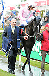 The Fugue (no. 6), ridden by William Buick and trained by John Gosden, wins the 38th running of the group 1 Irish Champion Stakes for three year olds and upward on September 7, 2013 at Leopardstown Racecourse in Leopardstown, Dublin, Ireland.  (Bob Mayberger/Eclipse Sportswire)