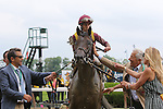 June 6, 2015: March, Irad Ortiz Jr. up, wins the 31st running of the grade II Woody Stephens Stakes at Belmont Park, Elmont, NY. Trainer Chad Brown, owner Robert LaPenta. Joan Fairman Kanes/ESW/CSM