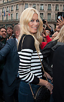 September 28 2017, PARIS FRANCE the Balmain Show at the Paris Fashion Week<br /> Spring Summer 2017/2018. Ex top Model<br /> Claudia Schiffer invited at the Show.