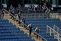 The umpires and Glamorgan players make their way to the pitch during Glamorgan vs Essex Eagles, Vitality Blast T20 Cricket at the Sophia Gardens Cardiff on 13th June 2021