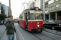 Tram between Kadikoy and Moda, Istanbul, Turkey