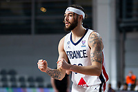 22nd February 2021, Podgorica, Montenegro; Eurobasket International Basketball qualification for the 2022 European Championships, England versus France;  Isaia Cordinier of France