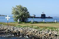 U-Boot und Ehemalige Marineanlagen auf Stumholmen in Karlskrona, Provinz Blekinge, Schweden, Europa, UNESCO-Weltkulturerbe<br /> Submarine and Former Marine grounds on Stumholmen in Karlskrona, ProvinceBlekinge, Sweden
