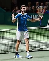 ABN AMRO World Tennis Tournament, Rotterdam, The Netherlands, 19 Februari, 2017, Marcel Granollers (ESP)<br /> Photo: Henk Koster