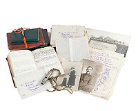 BNPS.co.uk (01202 558833)<br /> Pic: Bonhams/BNPS<br /> <br /> Pictured: Captain Duncan Warrand's letters, pocket diaries, trench maps and trench whistle.<br /> <br /> A fascinating letter recounting how Tommies returned from German trenches with boxes of cigars during the famous 1914 Christmas Day truce has come to light.<br /> <br /> Captain Duncan Warrand, of the 2nd Seaforth Highlanders, said they 'walked freely and fraternised' with their 'gentleman' adversaries during the temporary ceasefire.<br /> <br /> There was 'shouting and singing' and the officer picked a bit of ivy off a tree to 'commemorate the extraordinary Christmas of peace and war'.<br /> <br /> Capt Warrand wrote over 70 letters to his sister Carrie back in the Scottish Highlands throughout World War One which shed light on trench life.<br /> <br /> They have emerged for sale with auctioneers Bonhams as part of his extensive archive which also includes his pocket diaries, trench maps and trench whistle.