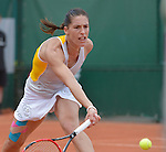 Andrea Petkovic (GER) defeats Lourdes Domingues Lino (ESP) 4-6, 6-4, 6-4 at  Roland Garros being played at Stade Roland Garros in Paris, France on May 28, 2015