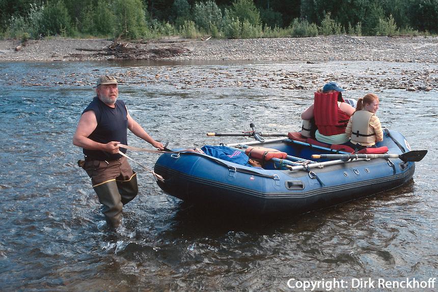 USA, Alaska, Schlauchboot in Chena Hot Springs bei Fairbanks
