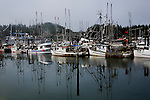 Ucluelet, British Columbia lies at the south end of Canada's Pacific Rim National Park along the north shore of Barkley Sound.  The harbor is home to commercial and sport fishing fleets and a jump off point to Kayak the Broken Island group.