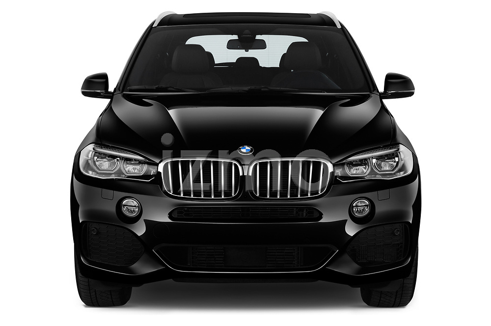 Car photography straight front view of a 2018 BMW X5 xDrive40e 4WD 5 Door SUV