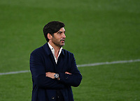 Football: Europa League - quarter final 2nd leg AS Roma vs Ajax, Olympic Stadium. Rome, Italy, March 15, 2021.<br /> Roma's coach Paulo Fonseca looks on during the Europa League football match between Roma at Rome's Olympic stadium, Rome, on April 15, 2021.  <br /> UPDATE IMAGES PRESS/Isabella Bonotto