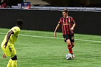 ATLANTA, GA - AUGUST 22: Emerson Hyndman #20 dribbles the ball during a game between Nashville SC and Atlanta United FC at Mercedes-Benz Stadium on August 22, 2020 in Atlanta, Georgia.
