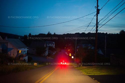 Scranton, Pennsylvania.August 2, 2012..Street scene...Photograph by Alan Chin.