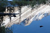 Long's Peak reflection in Mills Lake, Rocky Mountain National Park