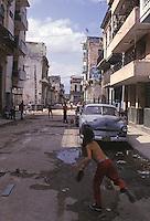 street Baseball in Havana Cuba