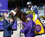 November 7, 2020 : Connections for Glass Slippers, winner of the Turf Sprint on Breeders' Cup Championship Saturday at Keeneland Race Course in Lexington, Kentucky on November 7, 2020. Bill Denver/Eclipse Sportswire/Breeders' Cup/CSM