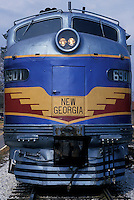 AJ1758, locomotive, train, Georgia, Atlanta, The old-time New Georgia Railroad passenger train carries tourists from Atlanta to Stone Mountain.
