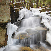 This is the image for April in the 2017 White Mountains New Hampshire calendar. Stair Falls along Bumpus Brook in Randolph. The calendar can be purchased here: http://bit.ly/220sKru