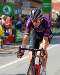 Jetse Bol (NED) Burgos-BH from the breakaway during Stage 6 of La Vuelta d'Espana 2021, running 158.3km from Requena to Alto de la Montaña Cullera, Spain. 19th August 2021.    <br /> Picture: Cxcling   Cyclefile<br /> <br /> All photos usage must carry mandatory copyright credit (© Cyclefile   Cxcling)