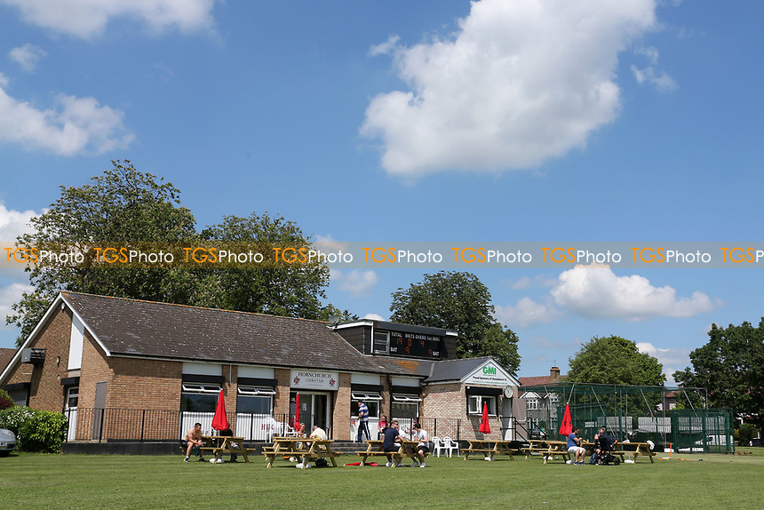 Blue skies over the pavilion during Hornchurch CC vs Harold Wood CC, Hamro Foundation Essex League Cricket at Harrow Lodge Park on 5th June 2021