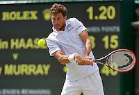 England, London, Juli 02, 2015, Tennis, Wimbledon, Robin Haase (NED)  his match against Murray (GBR)<br /> Photo: Tennisimages/Henk Koster