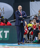 13th October 2021; Wizink Center; Madrid, Spain; Turkish Airlines Euroleague Basketball; game 3; Real Madrid versus AS Monaco; Zvezdan Mitrovic coach for AS Monaco