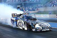 Jul. 19, 2013; Morrison, CO, USA: NHRA funny car driver Jack Beckman during qualifying for the Mile High Nationals at Bandimere Speedway. Mandatory Credit: Mark J. Rebilas-
