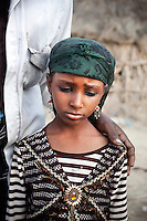 A young girl in Al Sherefia Aljunoubiya village, near Harad. There is no law specifying the age of marriage in Yemen. Over 50% of girls are married by the age of 15, usually without formal secondary education. .
