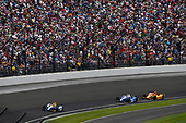 Verizon IndyCar Series<br /> Indianapolis 500 Race<br /> Indianapolis Motor Speedway, Indianapolis, IN USA<br /> Sunday 28 May 2017<br /> Alexander Rossi, Andretti Herta Autosport with Curb-Agajanian Honda, Takuma Sato, Andretti Autosport Honda, Ryan Hunter-Reay, Andretti Autosport Honda<br /> World Copyright: Scott R LePage<br /> LAT Images<br /> ref: Digital Image lepage-170528-indy-13363