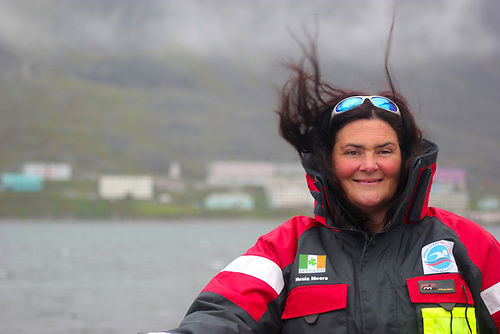 Sea swimmer Nuala Moore from Dingle in County Kerry